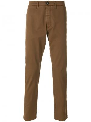 Классические брюки Eleventy. Цвет: коричневый