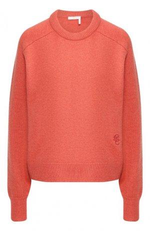 Кашемировый пуловер Chloé. Цвет: коралловый