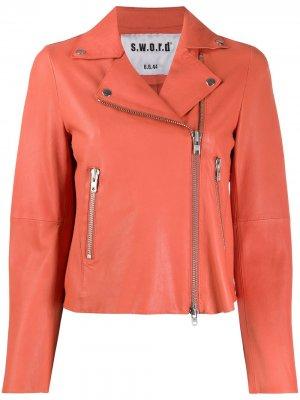 Байкерская куртка на молнии S.W.O.R.D 6.6.44. Цвет: оранжевый