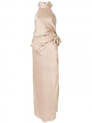 Платье Antonelli с драпировкой на талии CAMILLA AND MARC. Цвет: золотистый