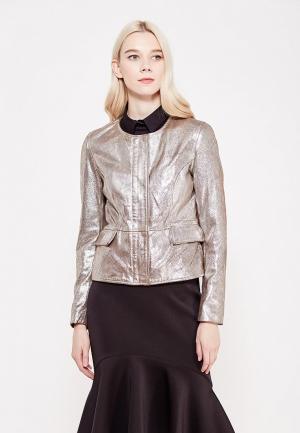 Куртка кожаная Blouson BL033EWVPM42. Цвет: серебряный