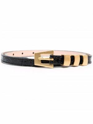Buckle-fastening leather belt BY FAR. Цвет: черный