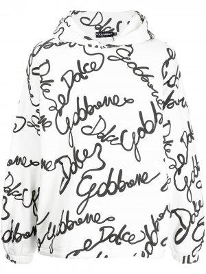 Худи с логотипом Dolce & Gabbana. Цвет: белый