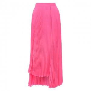 Плиссированная юбка Balenciaga. Цвет: розовый