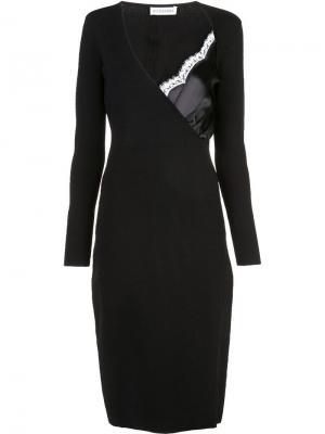 Платье по фигуре с молниями Altuzarra. Цвет: черный