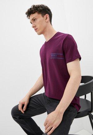 Футболка Boss T-Shirt RN 24. Цвет: фиолетовый