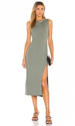 Платье миди crew Susana Monaco. Цвет: оливковый