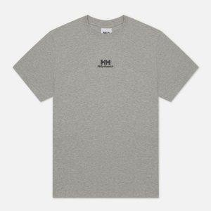 Мужская футболка YU20 Logo Helly Hansen. Цвет: серый