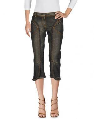 Джинсовые брюки-капри ANGELO MARANI. Цвет: темно-зеленый