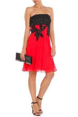 Платье Aftershock. Цвет: коралловый