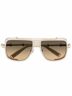 Солнцезащитные очки O.R. Balmain Eyewear. Цвет: белый
