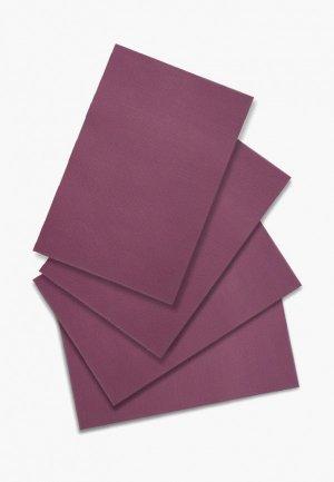 Комплект салфеток сервировочных DeNastia Талисман. Цвет: бордовый