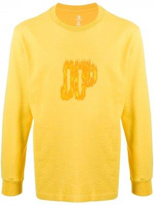 Playing with fire print sweatshirt Converse. Цвет: желтый