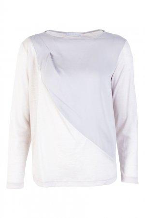 Белый шерстяной пуловер Fabiana Filippi