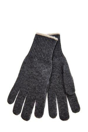 Кашемировые перчатки с меланжевым эффектом BRUNELLO CUCINELLI. Цвет: серый