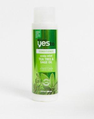 Кондиционер для раздраженной кожи головы с маслом чайного дерева Yes To Naturals 360 мл-Бесцветный