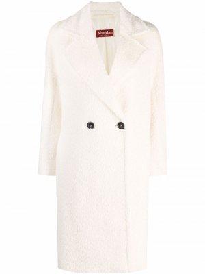 S Max Mara двубортное пальто 'S. Цвет: белый