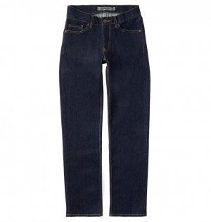 Детские джинсы DC Worker Straight SHOES. Цвет: темно-синий