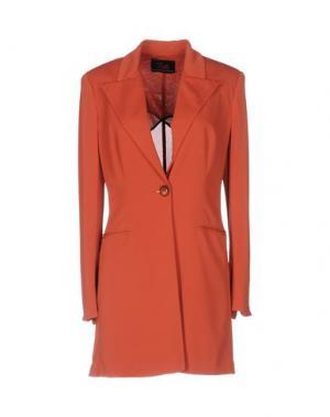 Легкое пальто BETTA CONTEMPORARY COUTURE. Цвет: кирпично-красный
