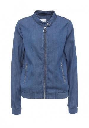 Куртка джинсовая Vila. Цвет: синий