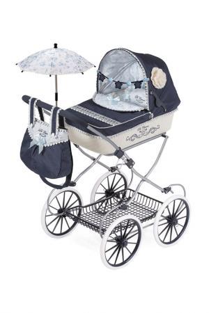 Коляска с сумкой и зонтиком DECUEVAS. Цвет: синий, голубой, белый