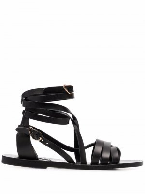 Сандалии Satira с ремешками Ancient Greek Sandals. Цвет: черный