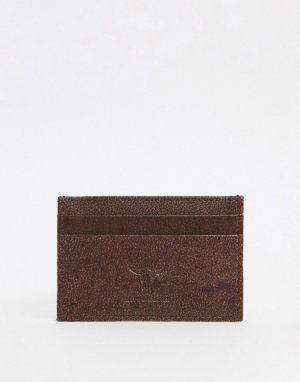 Кожаный кошелек для пластиковых карт -Коричневый цвет Hyde & Tanner