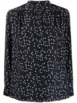 Блузка с принтом A.P.C.. Цвет: черный