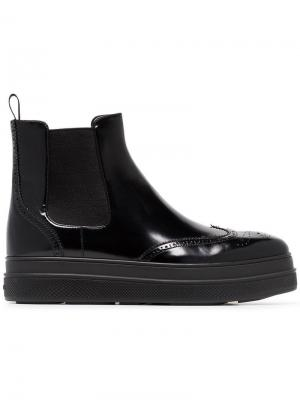 Ботинки челси Prada. Цвет: черный
