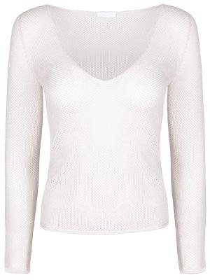 Пуловер вязки кроше из кашемира Malo. Цвет: серый