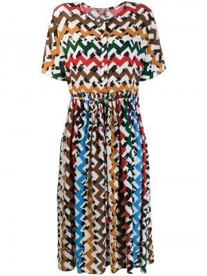 Расклешенное платье с принтом зигзаг Edeline Lee