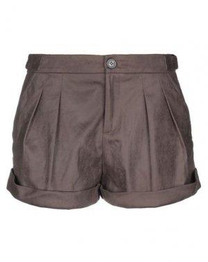 Повседневные шорты FAIRLY. Цвет: темно-коричневый