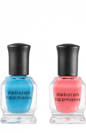 Набор лаков для ногтей Lifes A Beach Deborah Lippmann. Цвет: бесцветный
