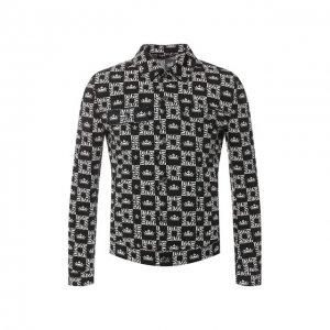 Джинсовая куртка Dolce & Gabbana. Цвет: чёрно-белый