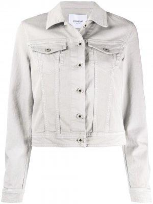 Джинсовая куртка узкого кроя Dondup. Цвет: серый