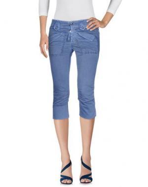 Джинсовые брюки-капри HIGH. Цвет: лазурный