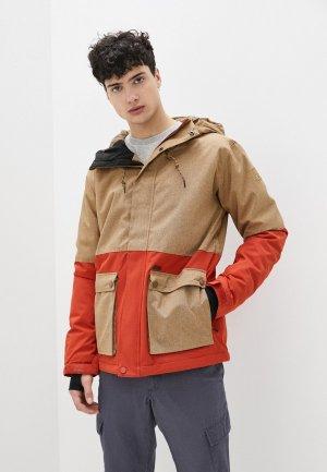 Куртка сноубордическая Billabong FIFTY 50. Цвет: коричневый