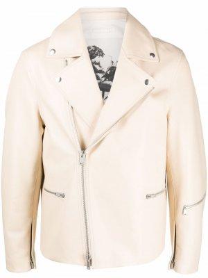 Байкерская куртка Jil Sander. Цвет: нейтральные цвета