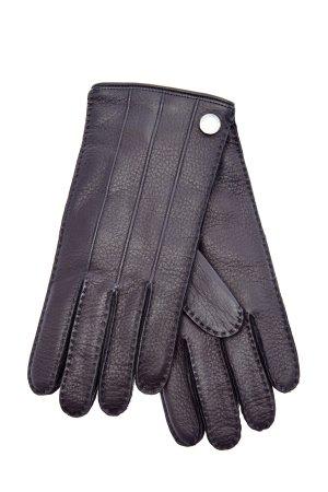 Перчатки ручной работы из кожи оленя MORESCHI. Цвет: черный