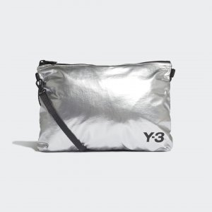 Сумка Y-3 Sacoche by adidas. Цвет: серебристый