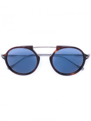 Солнцезащитные очки-авиаторы Tods Tod's. Цвет: коричневый