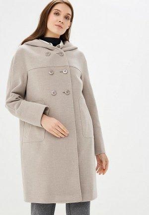 Пальто Electrastyle. Цвет: бежевый