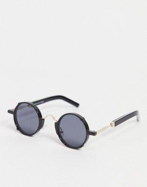 Черные круглые солнцезащитные очки в стиле унисекс Euph 2-Черный Spitfire