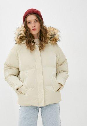 Куртка утепленная Brave Soul. Цвет: бежевый