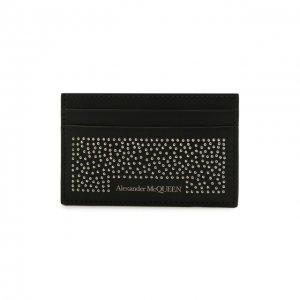 Кожаный футляр для кредитных карт Alexander McQueen. Цвет: чёрный