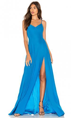 Вечернее платье channing Amanda Uprichard. Цвет: сине-зеленый