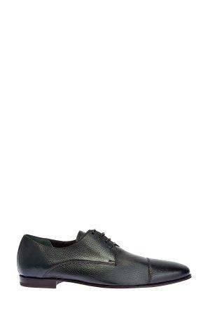 Туфли-дерби ручной работы из матовой кожи BARRETT. Цвет: зеленый