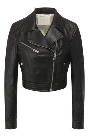 Кожаная куртка DROMe. Цвет: черный