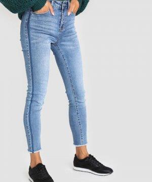 Зауженные джинсы O`Stin. Цвет: светло-синий