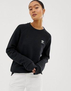Черный свитшот с круглым вырезом Essential adidas Originals